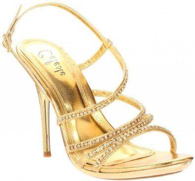 32.00 Shoehorne Ocean-01 - Womens Stunning Gold Rhinestone ...