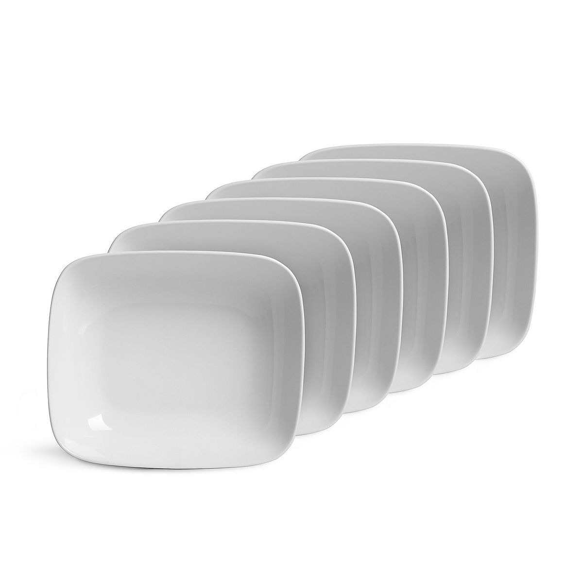 Suppenteller TOUCH 6 Stück Porzellan weiß ca L:18,5 x B:16 x H:5 cm