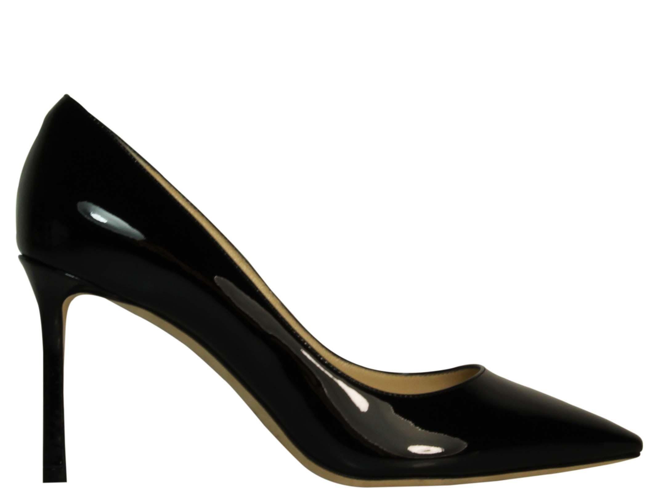 0a83714f54 JIMMY CHOO ROMY 85 BLACK PATENT PUMPS. #jimmychoo #shoes #   Jimmy ...
