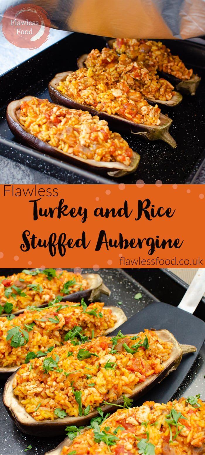Turkey and Rice Stuffed Aubergines | Recipe in 2020 ...