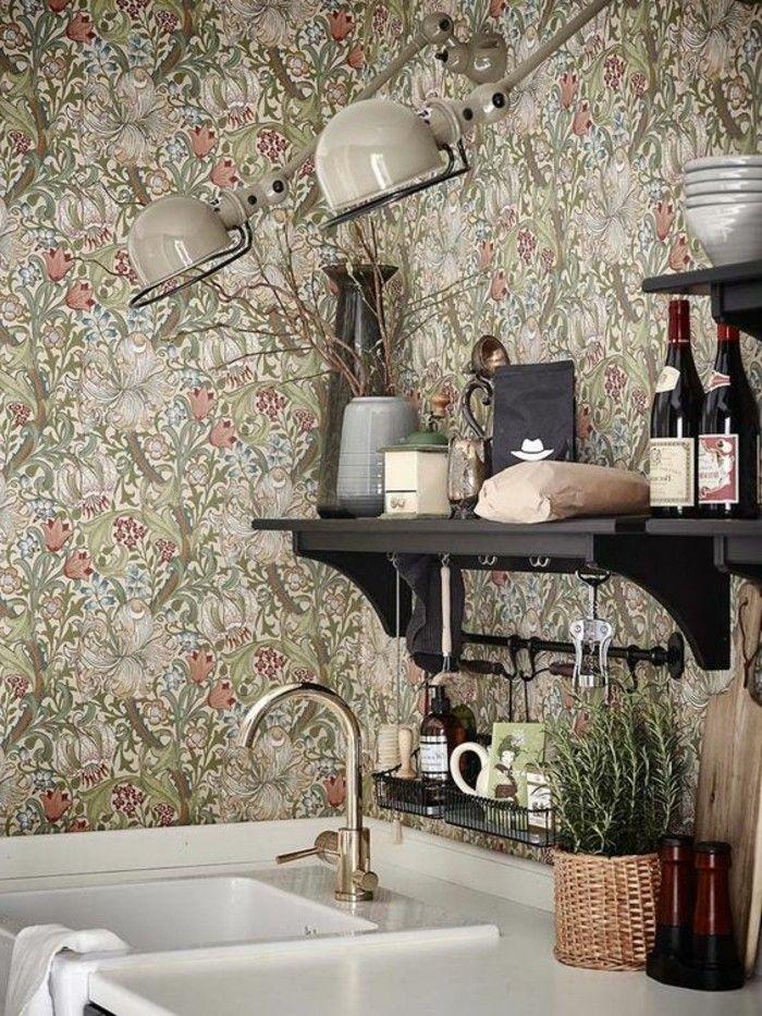 Sehr Schöne Moderne Wandtapeten Praktische Regale