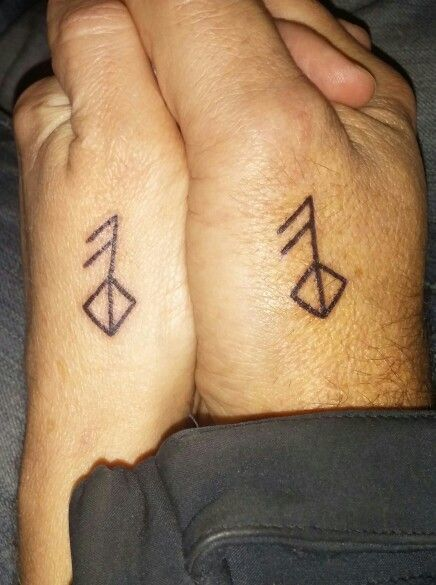 8a7a844360443 Viking/Rune symbol meaning love | my tattoo's | Rune tattoo, Wedding ...