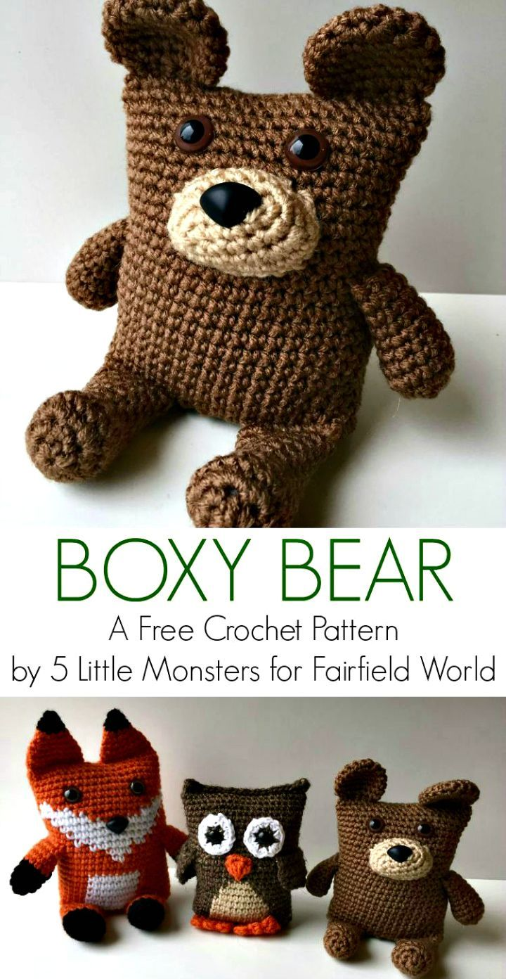 Here are free #Crochet #Teddy Bear Patterns that are all lovely and ...