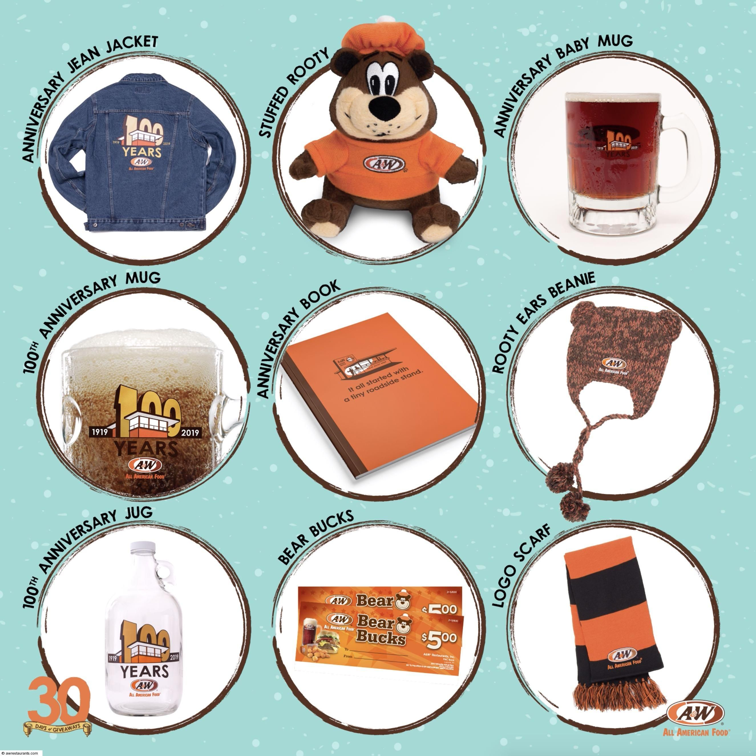 30 Days of Giveaways Giveaway, 30 day, A&w restaurants