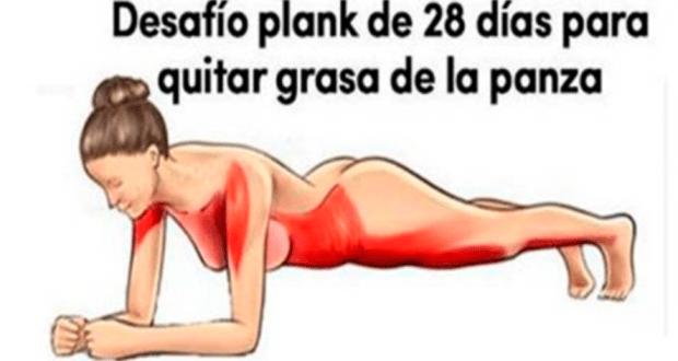 Desafío Plank De 28 Días Para Eliminar La Grasa De La Barriga Brazos Y Muslos Mujer Y Estilo Fitness Fácil Zumos Para Adelgazar Ejercicios Para La Barriga