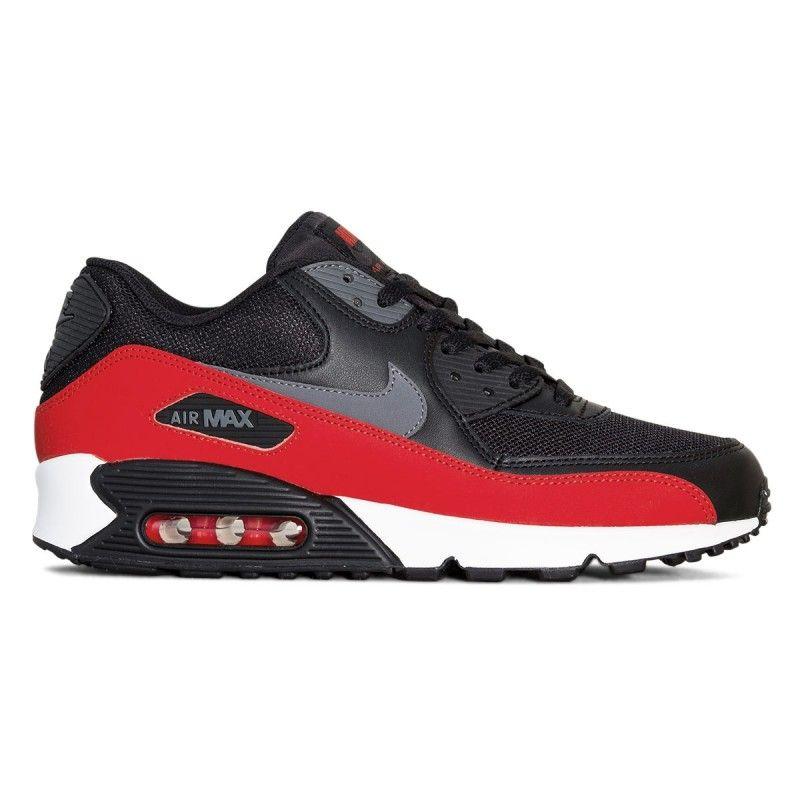 Tenis Nike Air Max 90 Essential Masculino Preto Vermelho Branco