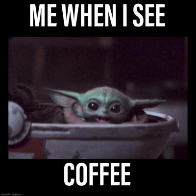 Coffee Tumblr Yoda Funny Yoda Meme Star Wars Baby