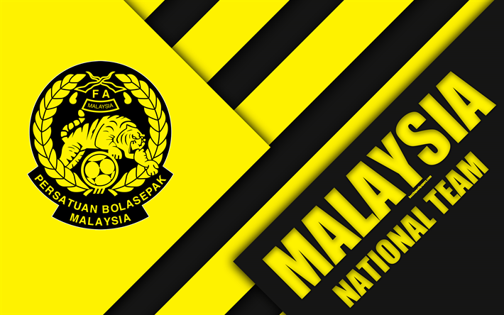 Download Wallpapers Malaysia Football National Team 4k Emblem Asia Material Design White Yellow Black Abstraction Football Association Of Malaysia Fam L Football Wallpaper Malaysia Material Design