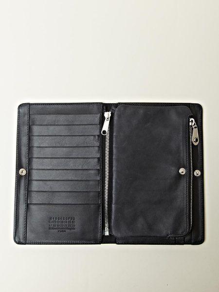 25e267a5640 Maison Martin Margiela Mens Long Flip Wallet in Black for Men - Lyst ...