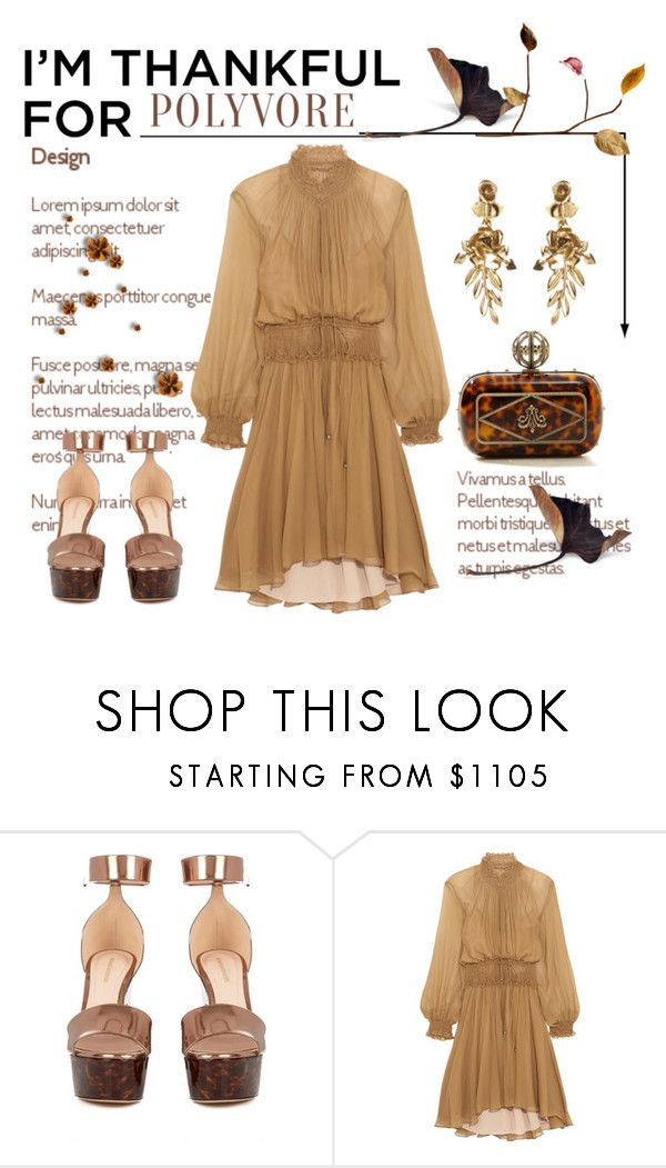 """""""I'm Thankful for Polyvore Please Read Description"""" by conch-lady ❤ liked on Polyvore featuring Alexander McQueen, Nicholas Kirkwood, Chloé, Oscar de la Renta and imthankfulfor"""