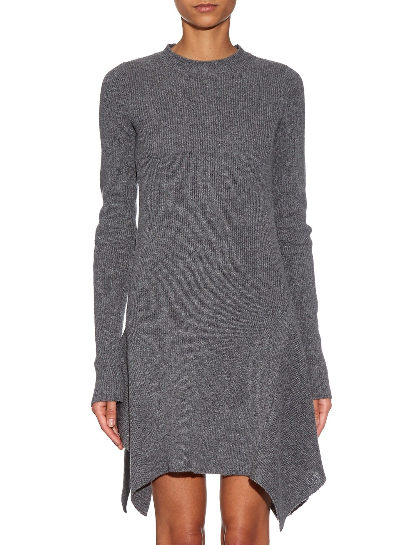 bc858004cdb Asymmetric ribbed-knit dress