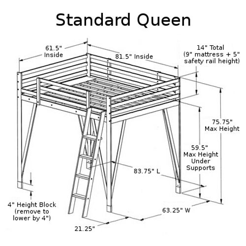 Pin By Liz Warren On For My Girl S Room Loft Bed Plans Queen Loft Beds Diy Loft Bed