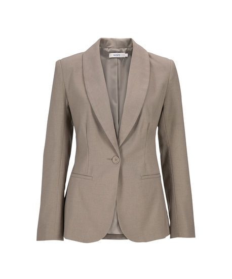 Shawl Collar Suit Blazer in Stone . Sizes 0 to 18 . Buy it now - or find your Ricki's store - at www.rickis.com #rickis #summer2014