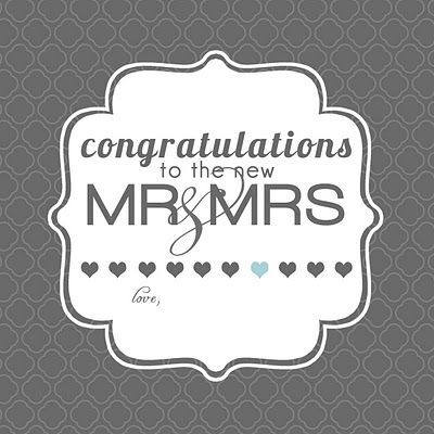 Slap On Your Wedding Gifts And Go Wedding Gift Tags Printable Wedding Congratulations Card Wedding Greeting Cards