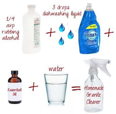 This Easy Homemade Cleaner Makes Granite Countertops Sparkle