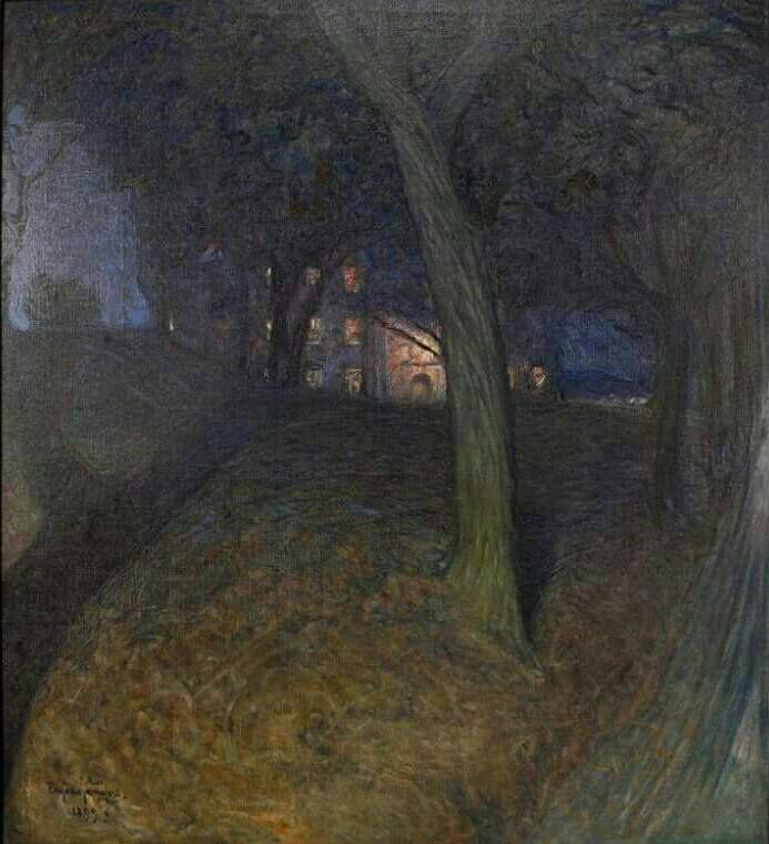 Skeppsholmen * - Eugène Fredrik Jansson , 1899 Swedish, 1862-1915 Oil on canvas * one of the islands of Stockholm
