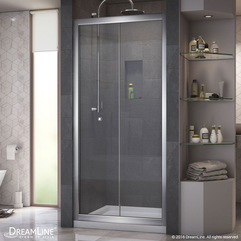 Butterfly 34 Inch To 35 1 2 Inch X 72 Inch Framed Bi Fold Shower Door In Chrome Bifold Shower Door Shower Doors Sliding Shower Door