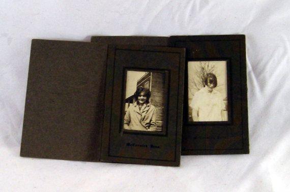 sister portraits  cir 1915 3 x 4 1/2 by AlchemistPantry on Etsy