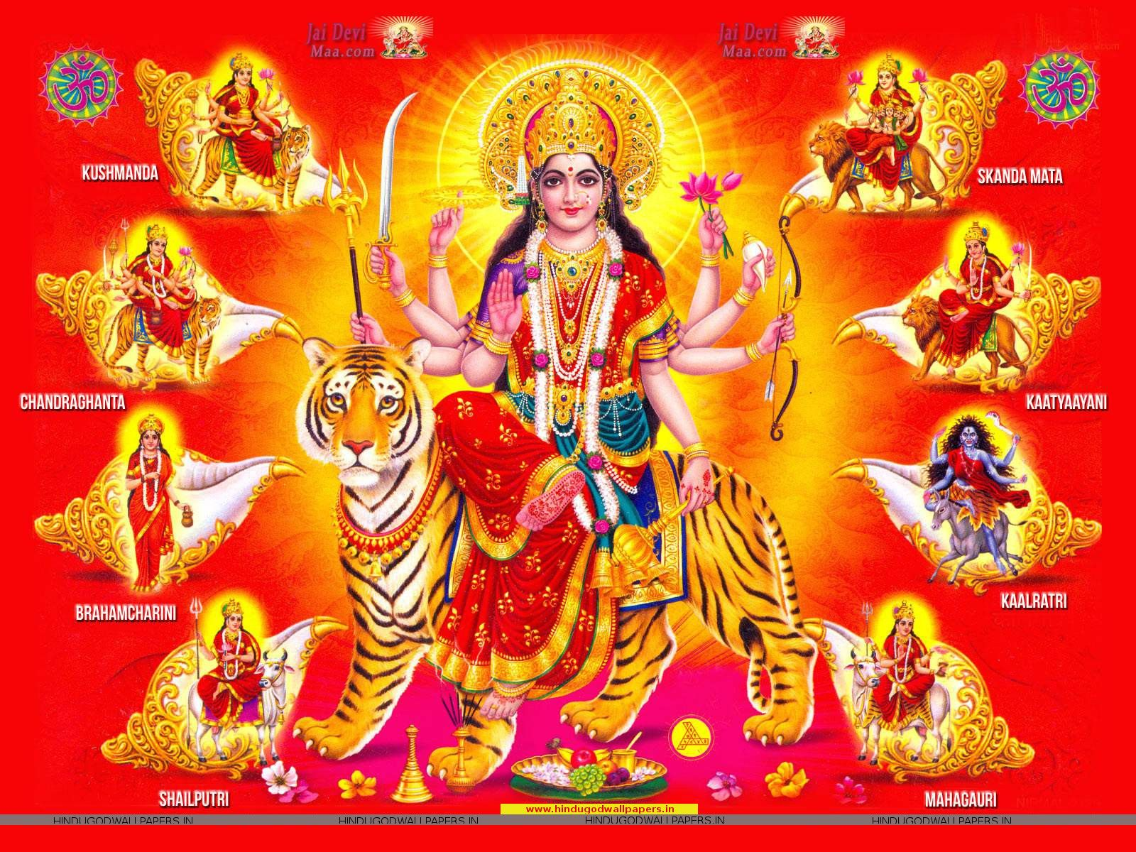 Navratri Wallpaper Full Size Free Download - Hindu God Wallpapers | Durga maa, Durga, Navratri wallpaper
