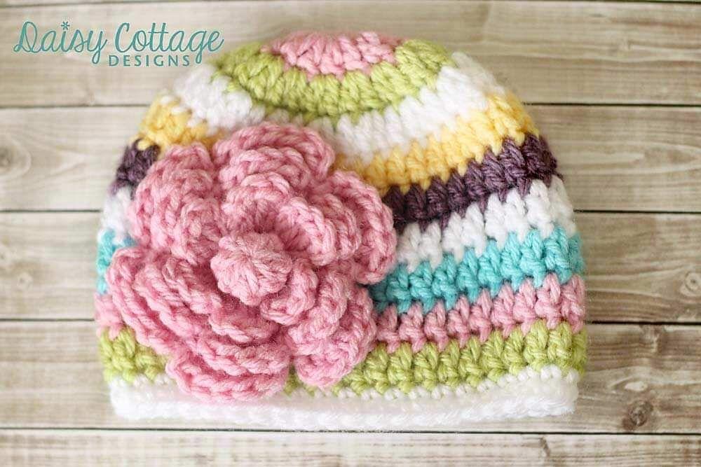 Flower Crochet Pattern Free   Cuerda, Tejido y Ponchos