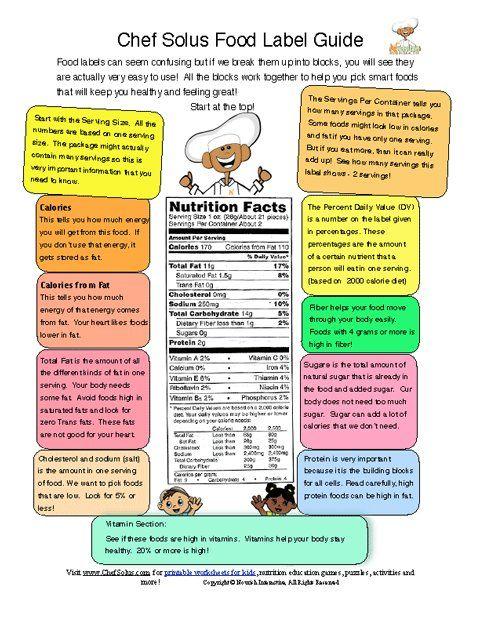 Printables Reading Food Labels Worksheet 1000 images about foods and nutrition on pinterest junk food labels make labels