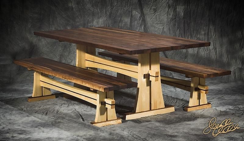 Japanese Style Picnic Table Plans Free Trestle Table Plans