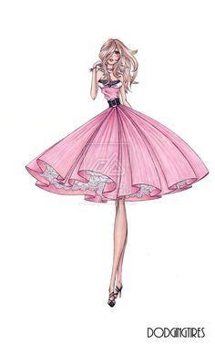 40 Glamorous fashion design illustrations & Drawings   Design Inspiration. Free Resources & Tutorials