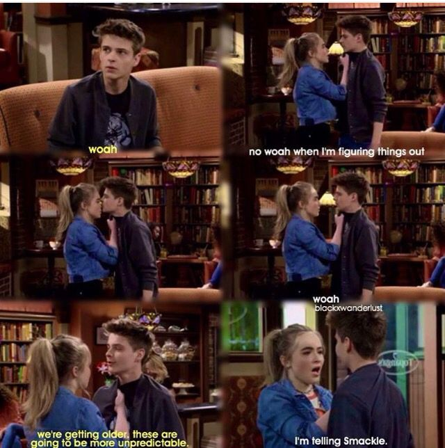 """#GirlMeetsWorld """"Girl Meets True Maya"""" (Farkle kissed Maya's nose, her reaction was cute, all she could say was 'woah' lol)"""