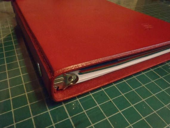 handmade leather a5 5 5 x 8 5 half page ringbinder personal binder