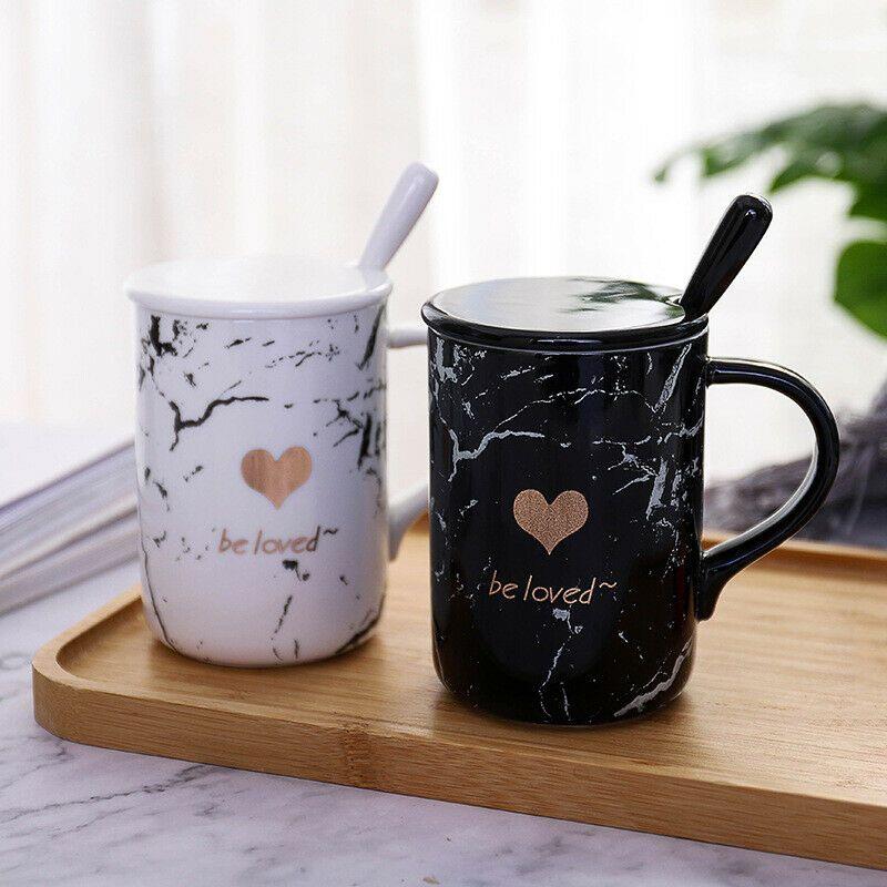 Be Loved Beautiful Ceramic Mug With Lid Spoon Milk Coffee Tea Lovers Mugcup Coffee Mugs Ideas Of Coffee Mugs Coffee Ceramic Mug With Lid Mugs Ceramic Mugs