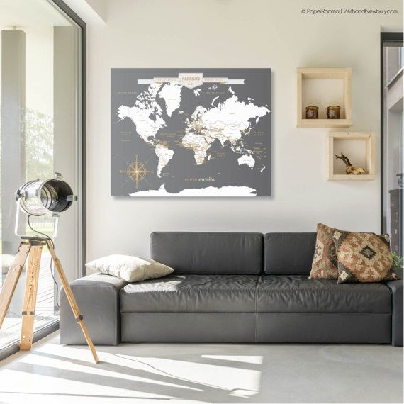 This world map wall art makes a wonderful wedding or anniversary this world map wall art makes a wonderful wedding or anniversary gift for every couple gumiabroncs Images