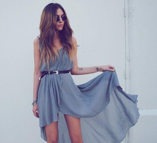 hi-lo dress, love the color