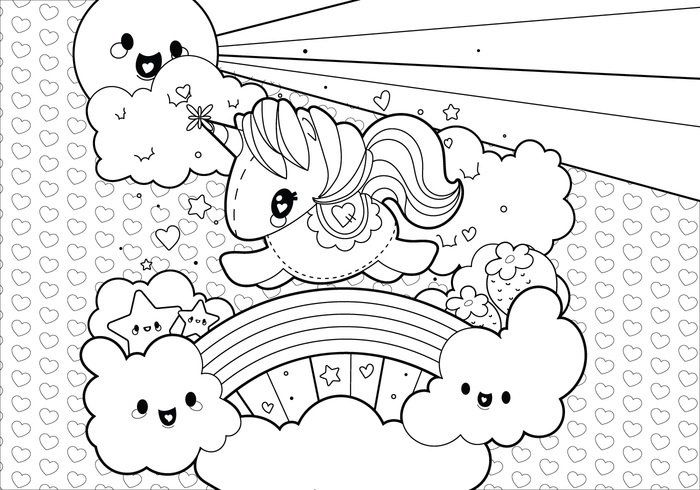 Image result for cute unicorn coloring page  Coloring Fun