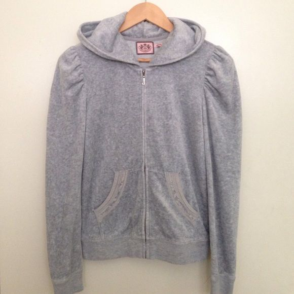Juicy Couture sweatshirt Super soft and nice with the cutest logo in the back Juicy Couture Sweaters