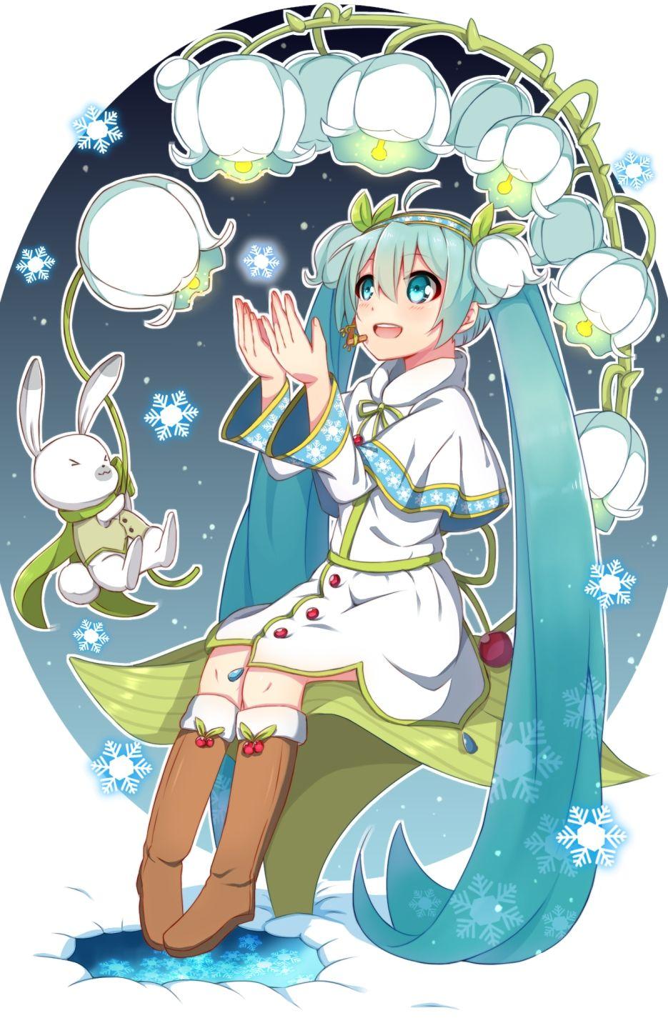 Yuki Miku (Lily Of The Valley) Vocaloid, Hatsune miku, Miku