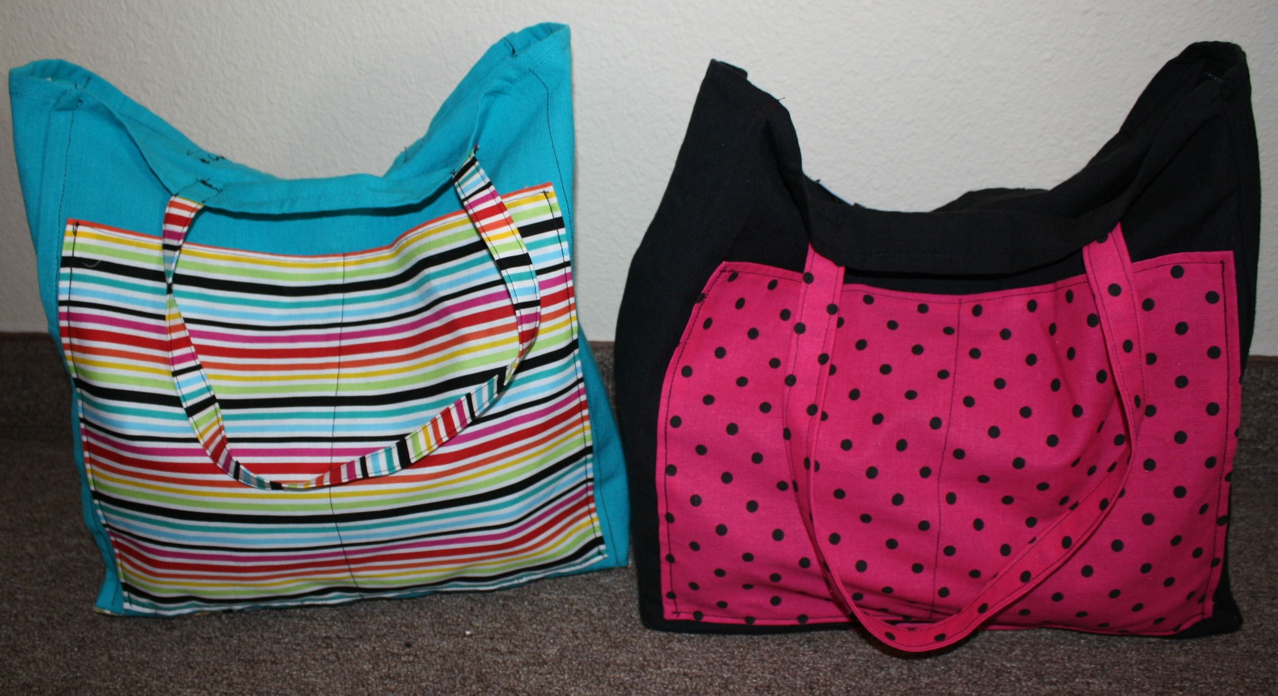 the beach bags I made for my roommate