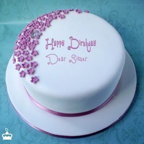 Happy Birthday Dear Sister Cake With Name Dear Sister Happy
