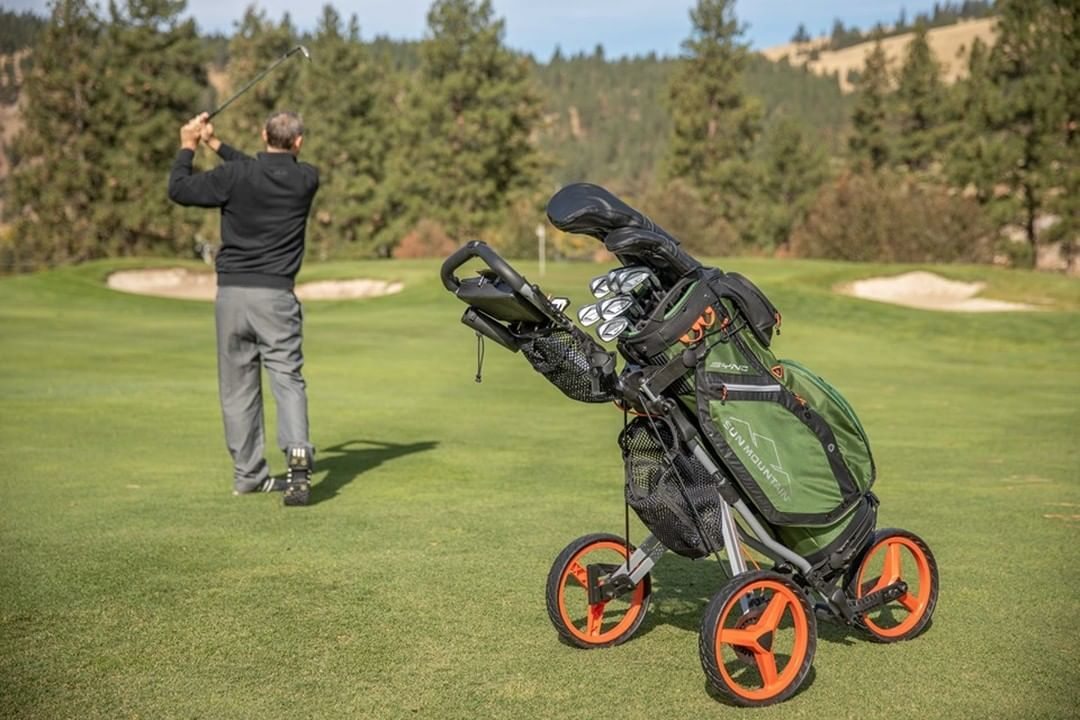 The Speedcart 4 Is The Next Generation Of Our Micro Cart Folds In Just 2 Simple Steps Pushcart Golferl Golf Push Cart Golf Outfit Womens Golf Fashion