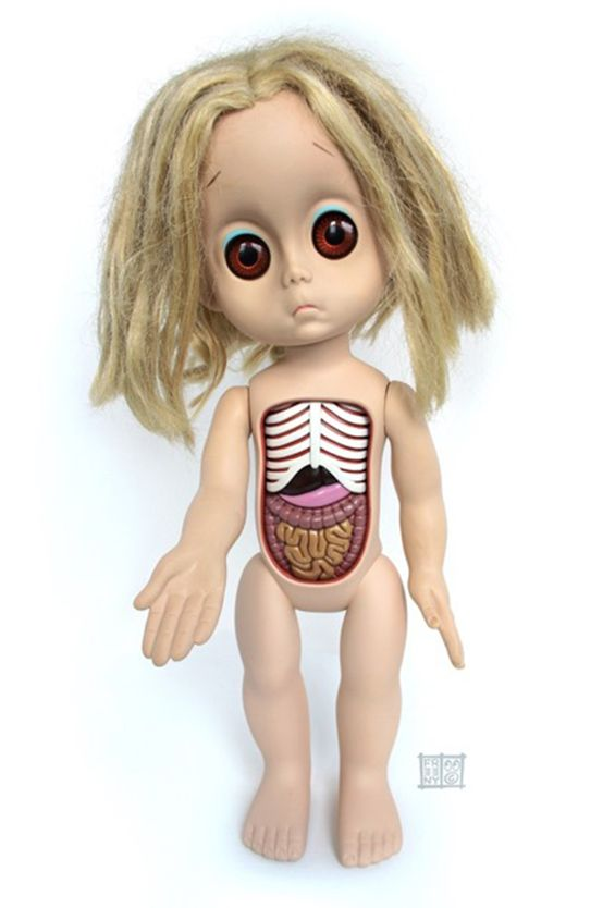 Cute Or Creepy: Jason Freeny Exposes the Organs And Bones Of Our Favorite Childhood Toys