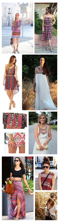 Vintage Women Tribal Print Dresses