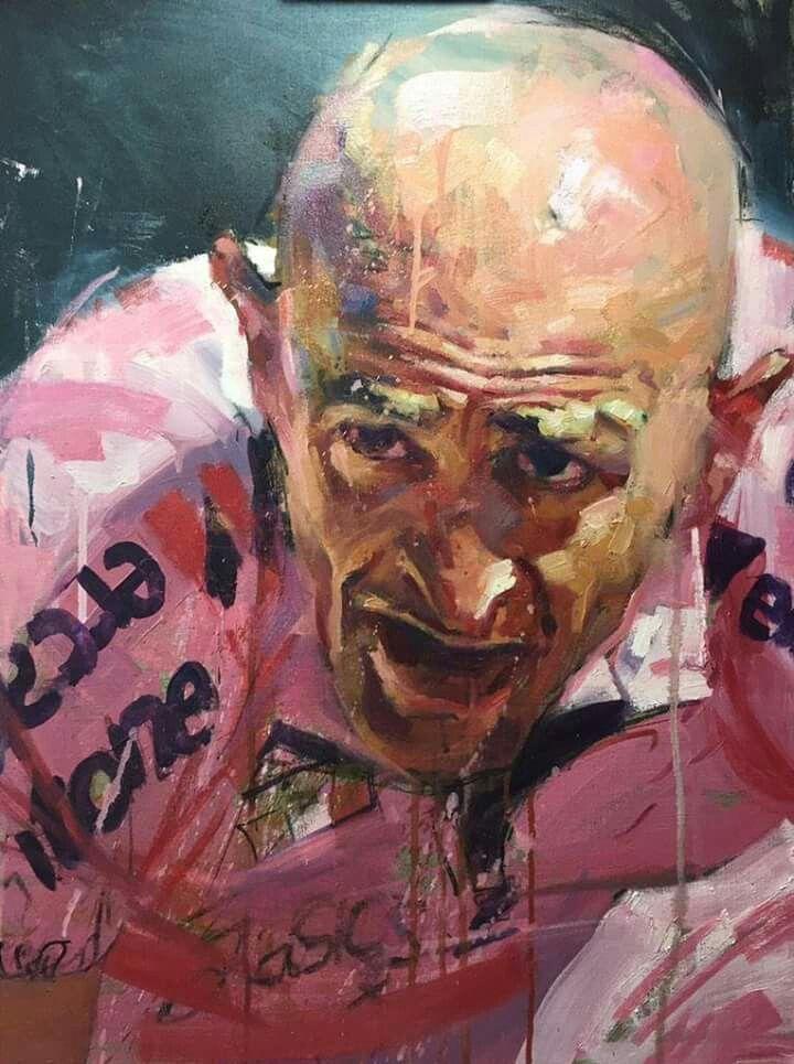 Marco Pantani Portrait Met Afbeeldingen Fietskunst