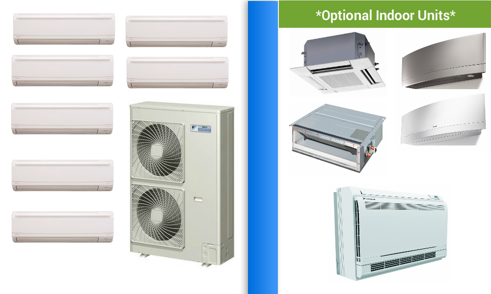 Daikin 7 Zone Ductless Mini Split Heat Pump Air Conditioner