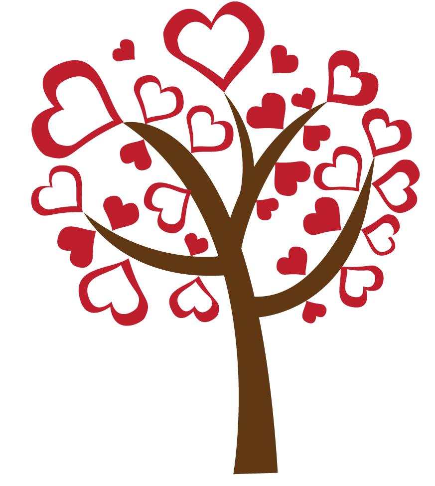 love heart tree free downnload png scrapbooking valentine u0027s day