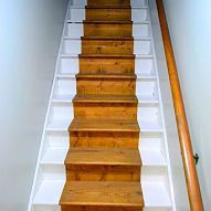 Best Painted Staircase Bare Wood Runner Painted 400 x 300