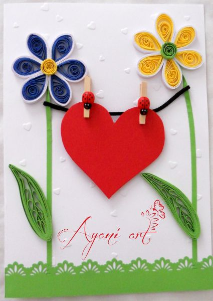 Quilled valentine also quilling hearts pinterest cards rh