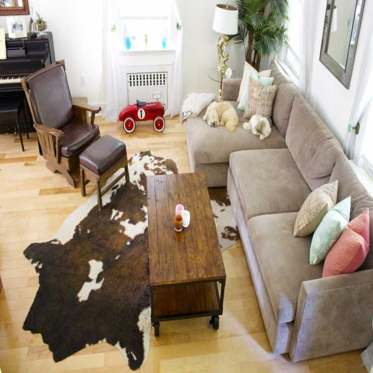 Pin By Tomi Dinkins On Home Decor Living Room Decor Cozy Cowhide Rug Living Room Cowhide Living Room