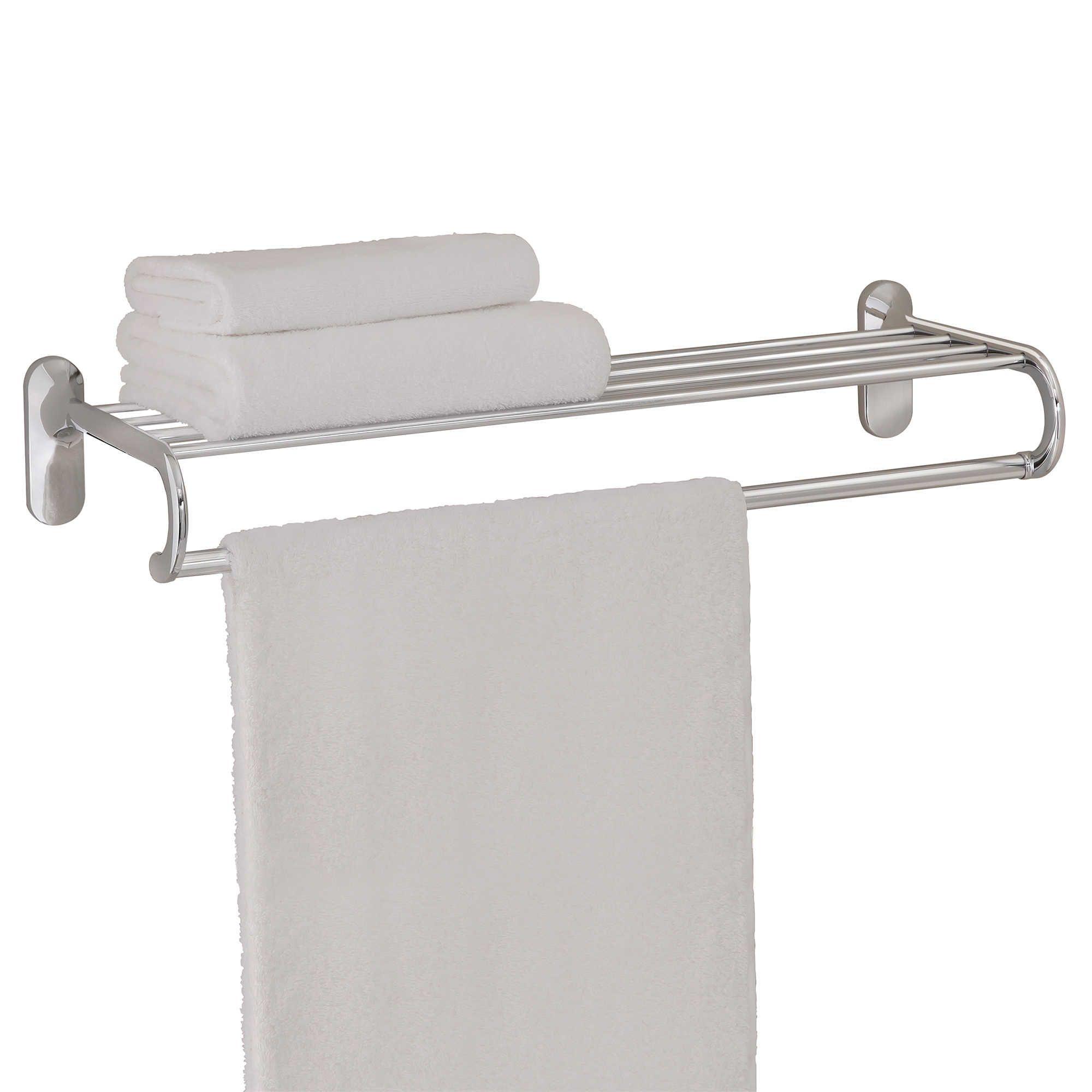 Taymor 24 Inch European Towel Shelf In Chrome Towel Shelf Bath Towel Racks Bath Furniture