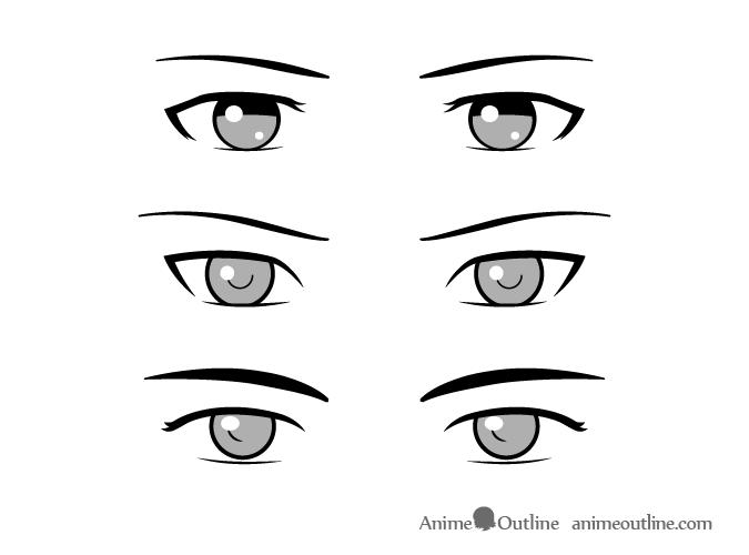 Simple Style Male Anime Eyes How To Draw Anime Eyes Manga Eyes Anime Eyes