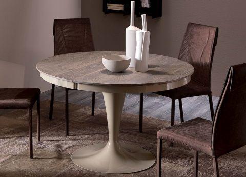 Tavolo Eclipse Di Ozzio Design.Ozzio Eclipse Extending Dining Table In Wood Home Design