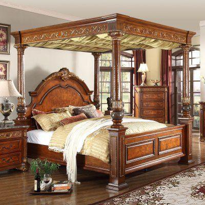 Meridian Royal Canopy Bed - ROYAL-POST-K in 2020   Bedroom ...